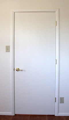 Smooth finish door installed by Highwood Construction : smooth door - pezcame.com